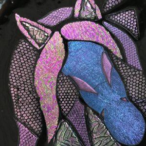 tallerken kunst pink