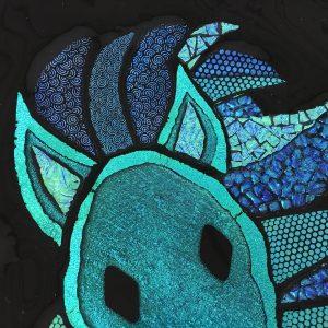 tallerken kunst blå